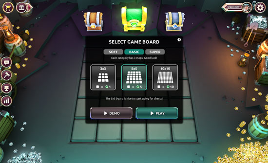 how to play Lucky dig - board selection